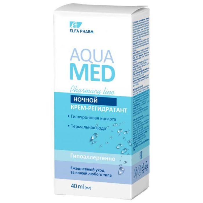 Ночной крем-регидрант 40 мл, Elfa Pharm Aqua Med