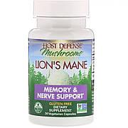 Ежовик гребенчатый, Поддержка памяти и нервов, Fungi Perfecti, Lion's Mane, 30 растительных капсул