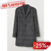 Пальто шерстяное H&M 26986378 46 Темно-серый (2000000873572)