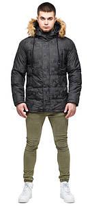 Зимняя куртка тёмно-серого цвета мужская модель 25110