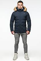 Темно-синя молодіжна куртка зимова для чоловіків модель 25780 розмір 46 (S), фото 3