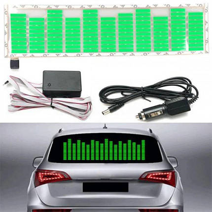 Эквалайзер на стекло авто Зеленый, фото 2