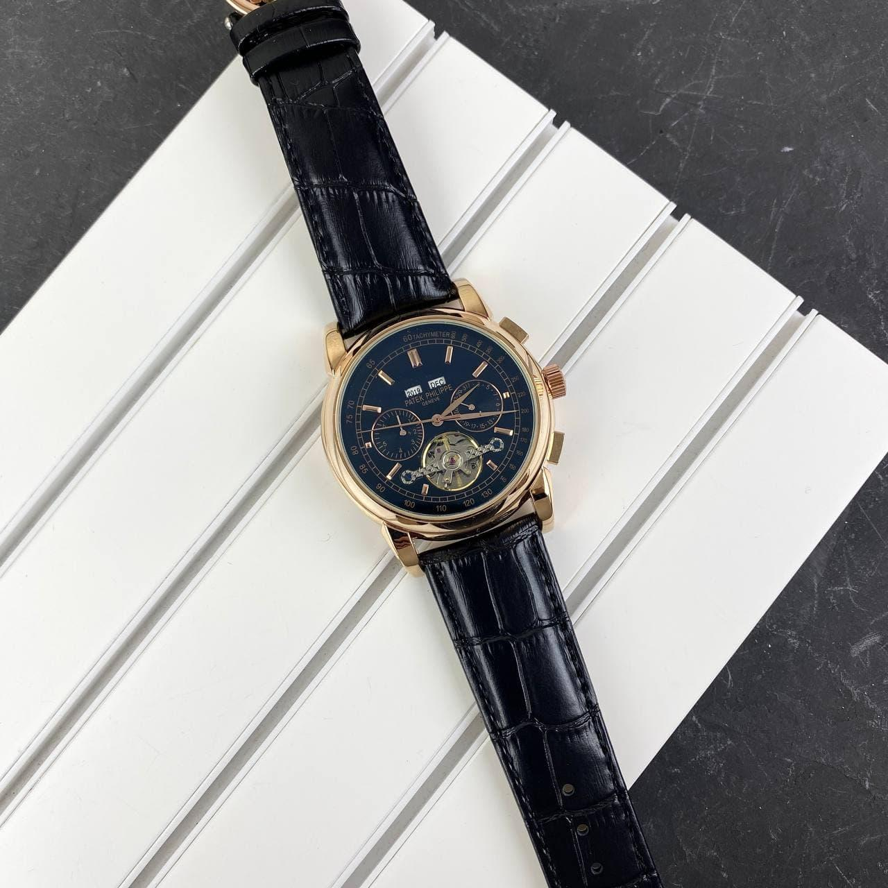 Мужские наручные часы Patek Philippe Grand Complications Tourbillon Gold-Black