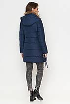 Куртка синяя женская зимняя качественного пошива модель 9087 (ОСТАЛСЯ ТОЛЬКО 44(XS)), фото 3