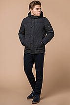 Куртка стандартной длины зимняя мужская графитовая модель 24534, фото 2