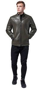 Осінньо-весняна куртка кольору хакі чоловіча молодіжна модель 4129 розмір 50 (L)
