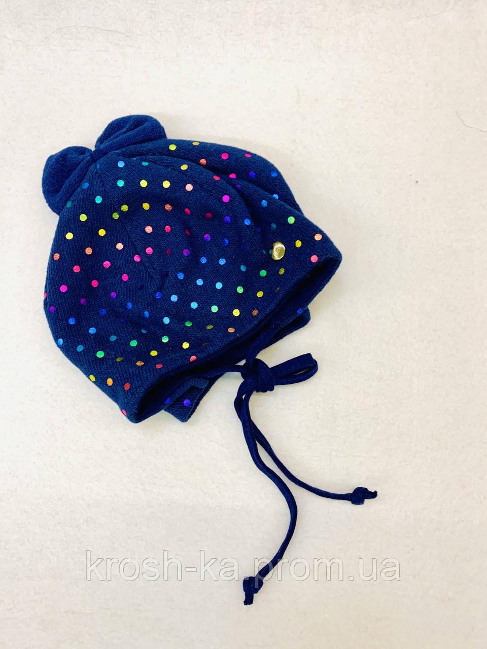 Шапка для девочки (45)р трикотажная синий Broel Польша Blair