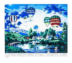 Картина по номерам H04850 х 65см Полет на воздушном шаре