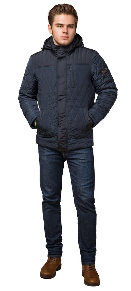 Светло-синяя куртка стандартной длины зимняя мужская модель 30538