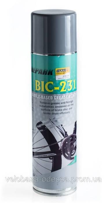 Жидкость для очистки велосипеда Chepark BIC-231 аэрозоль, наличие диффузора для трудно доступных мест, объём