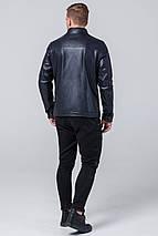 Куртка осінньо-весняна молодіжна темно-синя для чоловіків модель 2825 розмір 50 (L), фото 3