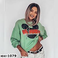 Женский стильный батник Микки Маус 2 цвета, фото 1