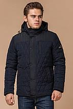 Мужская зимняя куртка синего цвета теплая модель 30538, фото 2