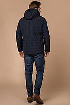 Мужская зимняя куртка синего цвета теплая модель 30538, фото 3