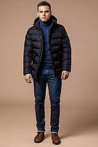 Зимняя черная мужская куртка модная модель 20180 (ОСТАЛСЯ ТОЛЬКО 46(S)), фото 3