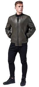 Куртка кольору хакі осінньо-весняна чоловіча молодіжна модель 4055 розмір 50 (L)