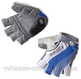 Перчатки EXUSTAR CG150 бело-синие гель S