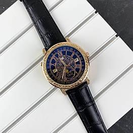 Мужские наручные часы Patek Philippe Grand Complications 6002 Sky Moon Black-Gold-Black