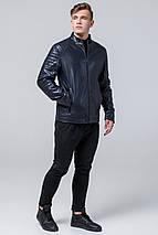 Непромокаємий молодіжна темно-синя куртка осінньо-весняна для чоловіків модель 4327 розмір 50 (L), фото 2