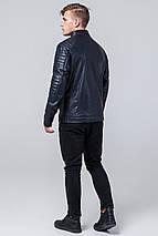 Непромокаємий молодіжна темно-синя куртка осінньо-весняна для чоловіків модель 4327 розмір 50 (L), фото 3