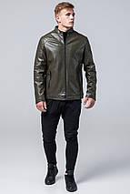 Стильная мужская куртка осенне-весенняя цвета хаки модель 4327, фото 2