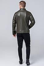 Стильная мужская куртка осенне-весенняя цвета хаки модель 4327, фото 3