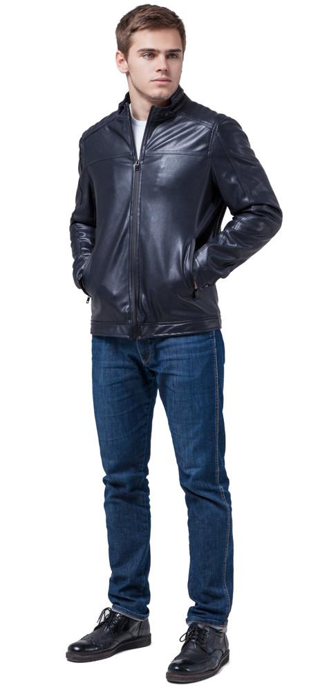 Чоловіча осінньо-весняна куртка молодіжна темно-синя модель 4834 розмір 50 (L)
