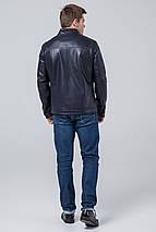 Чоловіча осінньо-весняна куртка молодіжна темно-синя модель 4834 розмір 50 (L), фото 3