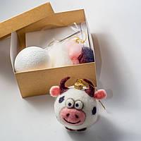 Набор для творчества Сделай сам Art Wool Ёлочная игрушка «Бык»