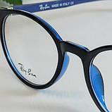 Стильные имиджевые круглые очки Ray Ban в пластиковой оправе, фото 4