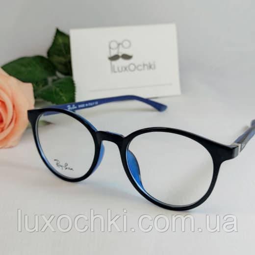 Стильные имиджевые круглые очки Ray Ban в пластиковой оправе