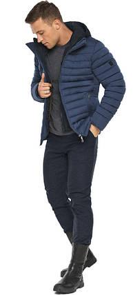 Куртка – воздуховик чоловічий короткий зимовий колір джинс модель 48210, фото 2