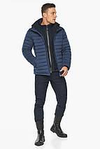 Куртка – воздуховик чоловічий короткий зимовий колір джинс модель 48210, фото 3