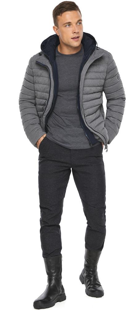 Куртка – воздуховик укороченный мужской зимний пепельный модель 48210
