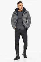 Куртка – воздуховик укороченный мужской зимний пепельный модель 48210, фото 2
