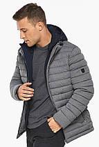 Куртка – воздуховик укороченный мужской зимний пепельный модель 48210, фото 3