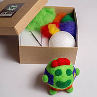 Набор для творчества Сделай сам Art Wool Игрушка из шерсти своими руками Спайк Brawl Stars
