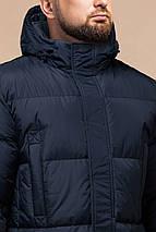 Зимняя мужская стильная куртка большого размера цвет темно-синий модель 3284 (ОСТАЛСЯ ТОЛЬКО 58(4XL)), фото 3