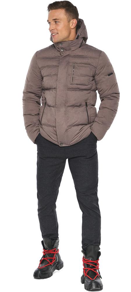 Куртка – воздуховик горіховий чоловічий зимовий модель 43520