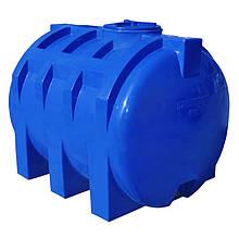 Емкость Рото Европласт горизонтальная двухслойная 1500 л Синяя 45, КОД: 1881673