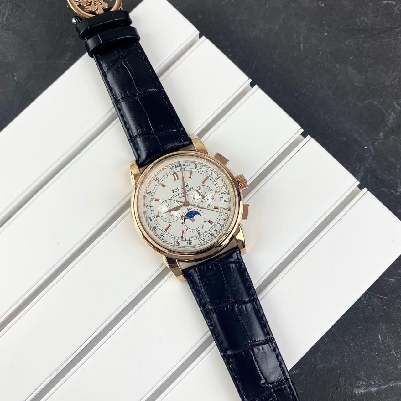 Мужские наручные часы Patek Philippe AAA Black-Gold-Silver
