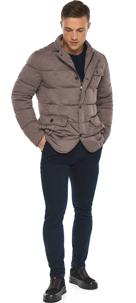 Куртка – воздуховик на зиму ореховый мужской модель 35230