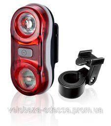 Фонарь задний DLIGHT 2х0,5W 3 режима, с батарейками, фото 2