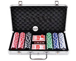 Покерный набор в алюминиевом кейсе на 300 фишек