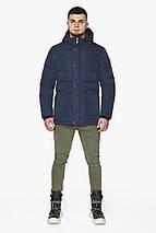 Синя зимова куртка чоловіча на блискавці модель 44516 розмір 46 (S), фото 2