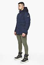 Синя зимова куртка чоловіча на блискавці модель 44516 розмір 46 (S), фото 3