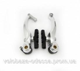 Тормоз пер.+задн. ALHONGA HJ-811AD7 под v-brake, серебро, фото 2