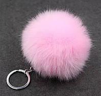 Брелок помпон меховый (розовый)