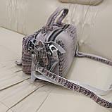 Женская сумочка Lazer White из стильной лазерной натуральной кожи, фото 2