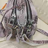 Женская сумочка Lazer White из стильной лазерной натуральной кожи, фото 4